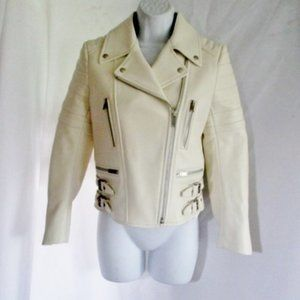 NWT New CELINE ITALY LEATHER Moto Ride jacket coat